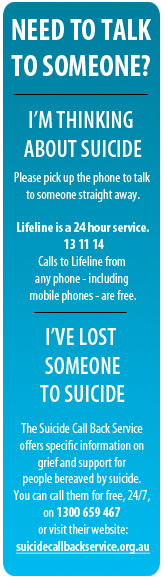 Need to Talk?  Ring Lifeline 13 11 14