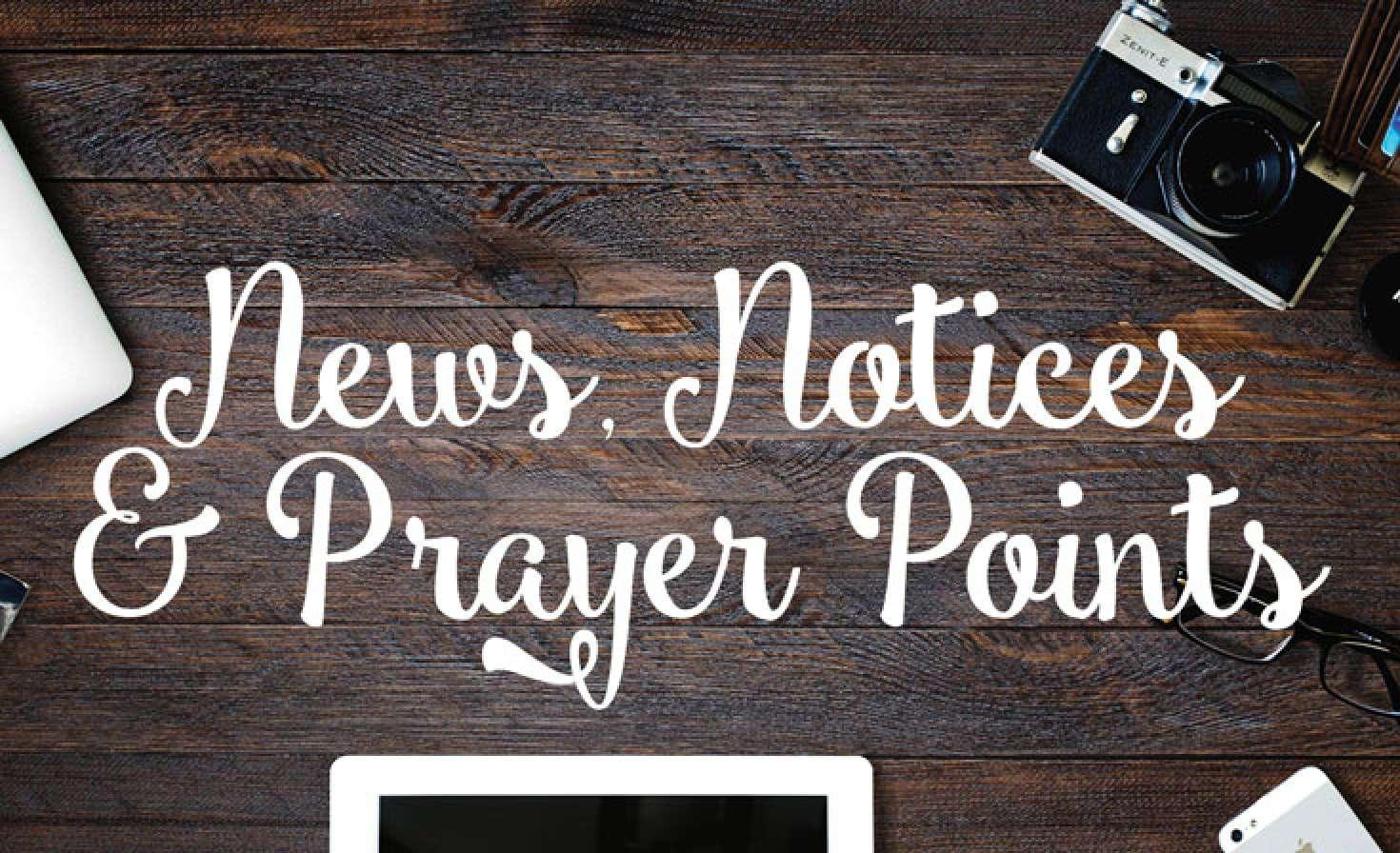 UCA SA - News, Notices & Prayer points - 23 January, 2019