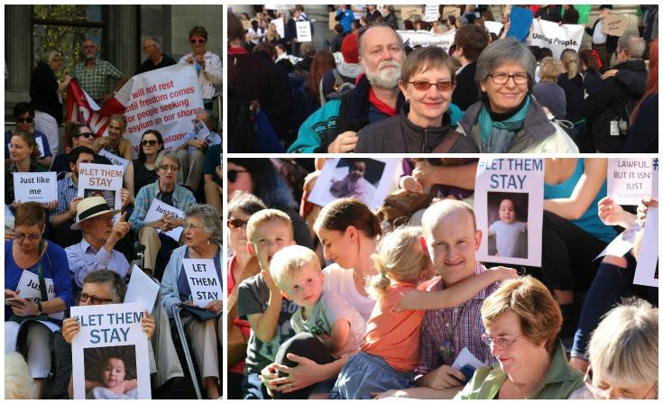 Members of Uniting Church communities joining in action for refugees and asylum seekers.