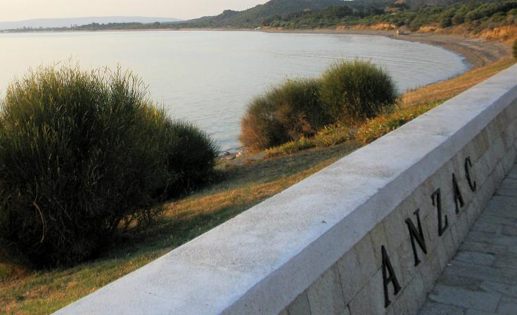 Gallipoli with ANZAC sign