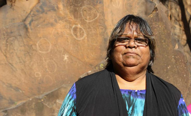 Aunty Denise Champion regularly leads pilgrimages on country