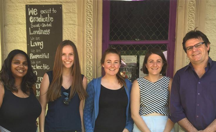 Left to right: Candace Champion, Lizzie Ferguson, Philippa Paul, Alexandra Bingham and Adrian Nippress are all Uniting Church SA members who attended the Voices for Justice conference in 2015.
