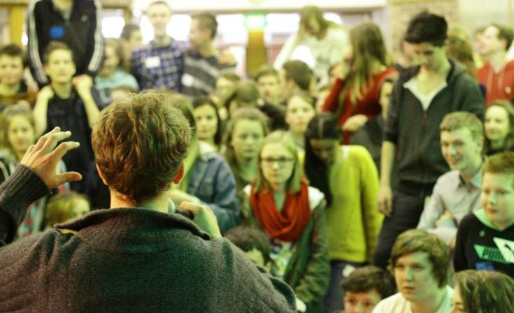 Young people gathered at a past Live Life Loud event